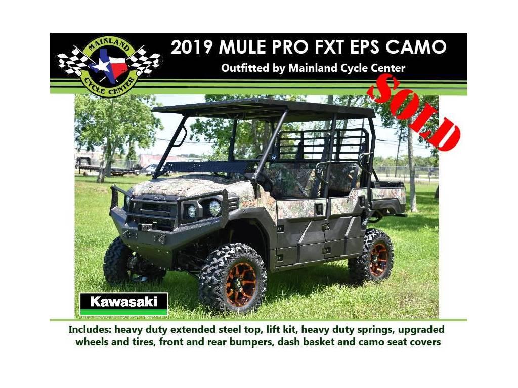 2019 Kawasaki Mule Pro Fxt Eps Camo For Sale In La